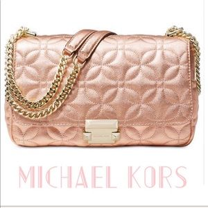 NWT. Michael Kors Small Sloan Chain Quilted Purse